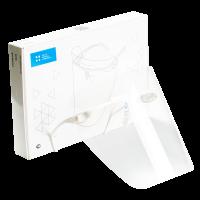 """Экран Целит - полимерный прозрачный, для защиты глаз и органов дыхания, цвет """"Белый"""" - 1 оправа, 5 щитков"""