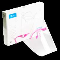 """Экран Целит - полимерный прозрачный, для защиты глаз и органов дыхания, цвет """"Розовый"""" - 1 оправа, 5 щитков"""