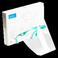 """Экран Целит - полимерный прозрачный, для защиты глаз и органов дыхания, цвет """"Зеленый"""" - 1 оправа, 5 щитков"""