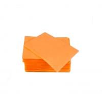 Салфетки для пациентов двухслойные (слой бумаги + слой п/э) ELE Green (Китай), 500 шт./упак. цв. ОРАНЖЕВЫЕ