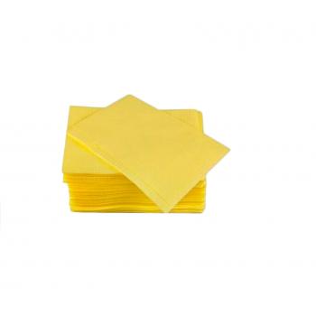 Салфетки для пациентов двуслойные (слой бумаги + слой п/э) ELE Green (Китай), 500 шт./упак. цв. ЖЕЛТЫЙ
