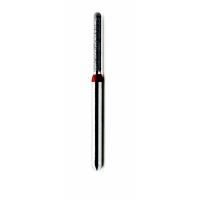 Боры алмазные цилиндр с закругленным концом, Dentex F350 (упаковка 3 шт)