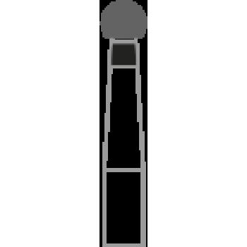 801-018XC - Алмазные боры шаровидные - BR-31XC, (упаковка 5 шт) / Prima Dental