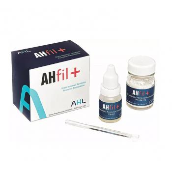 AHfil+ - стеклоиономерный цемент для реставраций, оттенок А3, порошок 15 гр., + жидкость 7 мл. (Аналог Fuji IX)