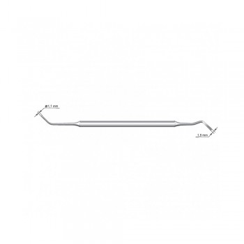 Штопфер-гладилка №1 (СТРУМ), сторона 1 - диаметр 1,5 мм, сторона 2 - диаметр 2 мм