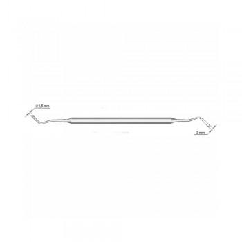 Штопфер-гладилка №1 (СТРУМ), сторона 1 - диаметр 1,2 мм, сторона 2 - диаметр 2 мм