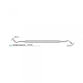 Штопфер-гладилка №3 (СТРУМ), сторона 1 - диаметр 2 мм, сторона 2 - диаметр 2.5 мм
