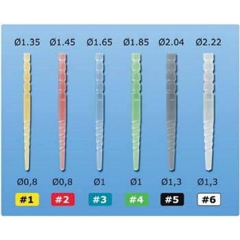 INTRO KIT MACRO-LOCK POST X-RO ILLUSION — макроретенционные волоконные штифты, #3- Ø 1,65 мм