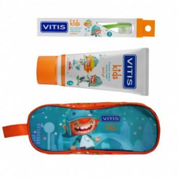 VITIS® Kids Набор: зубная щетка + зубная паста (пенал) для детей от 3 лет
