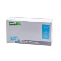 """Перчатки смотровые нитриловые текстурированные неопудренные с валиком (EN1), Clean+Safe, №3, размер """"L"""""""