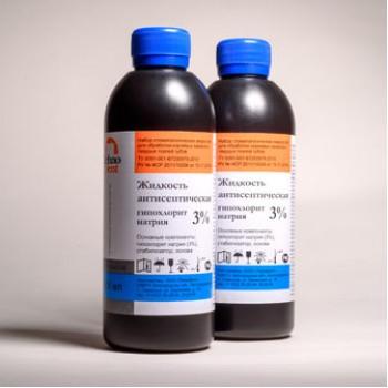 Гипохлорит натрия 3%, 300 мл. / ТехноДент