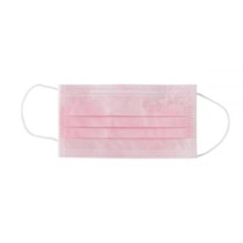 """Маски медицинская лицевая защитная """"Euronda"""", защита 3, трехслойные, 50шт., цвет """"Розовый"""""""