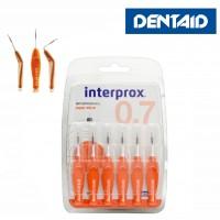 Межзубные ёршики INTERPROX 4G с гнущейся ручкой Размер Supermicro (0,7 мм)