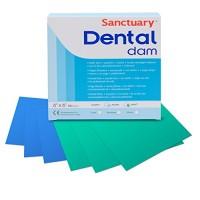 Латекс для коффердама Dental Dams - средний, цвет зеленый 36 шт. упаковка
