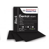 Латекс для коффердама Dental Dams - средний, цвет черный 36 шт. упаковка