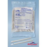 Слюноотсос стоматологический, одноразовый Кристи Дент - прозрачный - 100 шт/уп.
