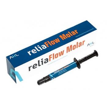 reliaFlow Molar - релиаФлоу Моляр - текучий светоотверждаемый рентгеноконтрастный композитный материал, оттенок А3, шприц 2 гр.