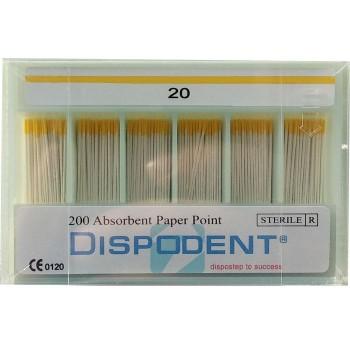 Штифты бумажные, Дисподент 200 шт/уп., размер №20