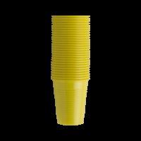 Стаканы пластиковые, 100 шт. (EURONDA,Италия) желтые
