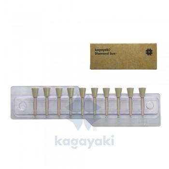 Полиры алмазные Кагаяки - KAGAYAKI DIAMOND SUN 10 шт. ЧАШКА - получение гладкой поверхности реставрации, цвет желтый