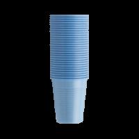 Стаканы пластиковые, 100 шт. (EURONDA,Италия) голубые