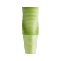 Стаканы пластиковые, 100 шт. (EURONDA,Италия) лайм