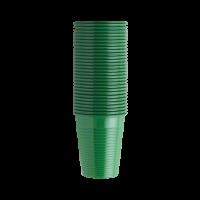 Стаканы пластиковые, 100 шт. (EURONDA,Италия) зеленые