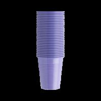 Стаканы пластиковые, 100 шт. (EURONDA,Италия) лиловые