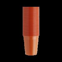 Стаканы пластиковые, 100 шт. (EURONDA,Италия) оранжевые