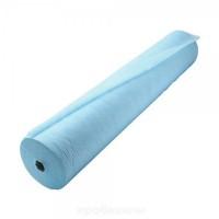 Простыни одноразовые 70x200 см, в рулоне, 100 шт., голубые