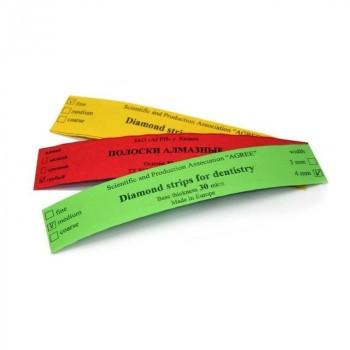 Штрипсы металлические АГРИ - средние - 4 мм, зеленые - 50 мкм - 5 шт