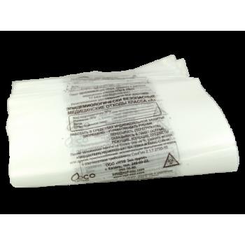 Пакеты для утилизации - класс А, размер 600 мм на 1000 мм, 110 л. - 100 штук