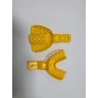 Слепочная ложка, комплект - (верх и низ) - размер S номер 1, цвет Желтый