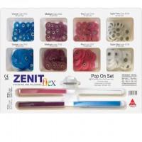 Набор Дисков Zenit Flex Snap On (8 по 30 дисков, 20 штрипсов, дискодержатель) - President Dental Germani