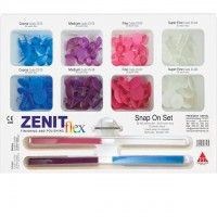 Набор Дисков Zenit Flex Snap On (8 по 20 дисков, 20 штрипсов, дискодержатель) - President Dental Germani