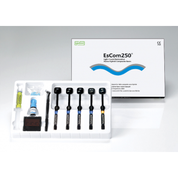 EsCom 250 - световой композит с Цирконием - набор 5 шприцов по 4 гр. / Spident